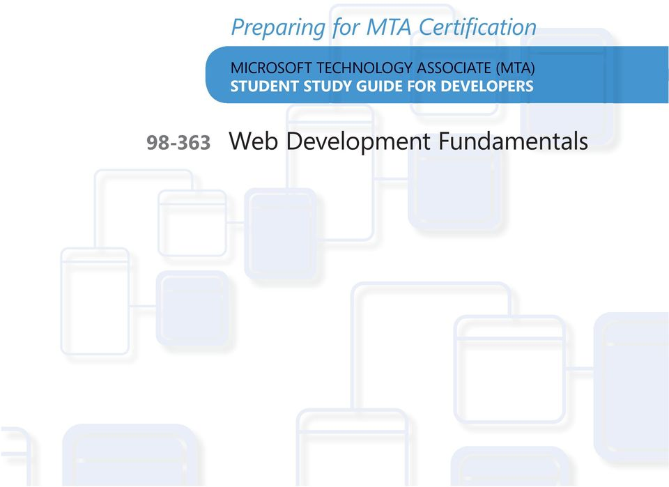 Microsoft Technology Associate Student Study Guide Exam Web