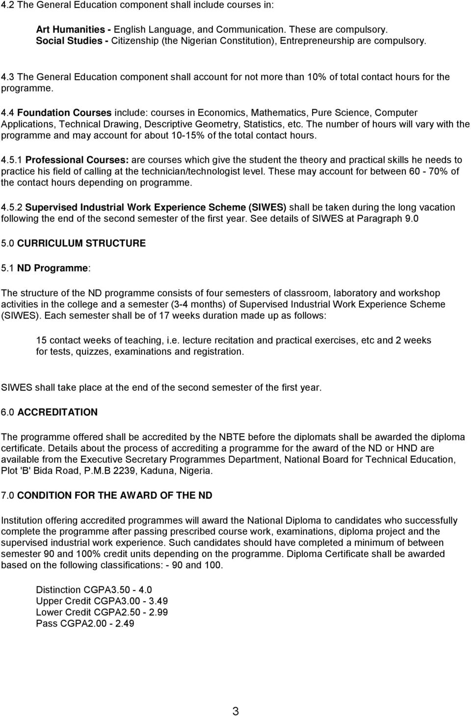 Science Laboratory Technology National Diploma (ND) - PDF