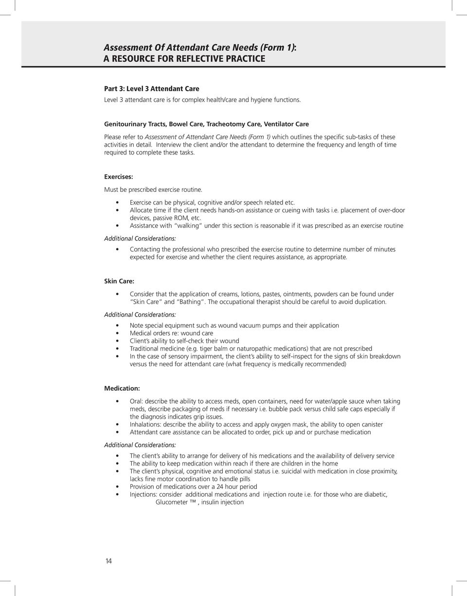 occupational therapy placement reflection