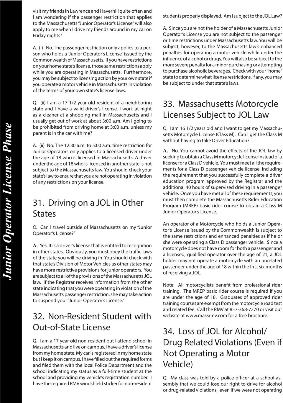 FAQs About Learner s Permits & Junior Operator Licenses  Q