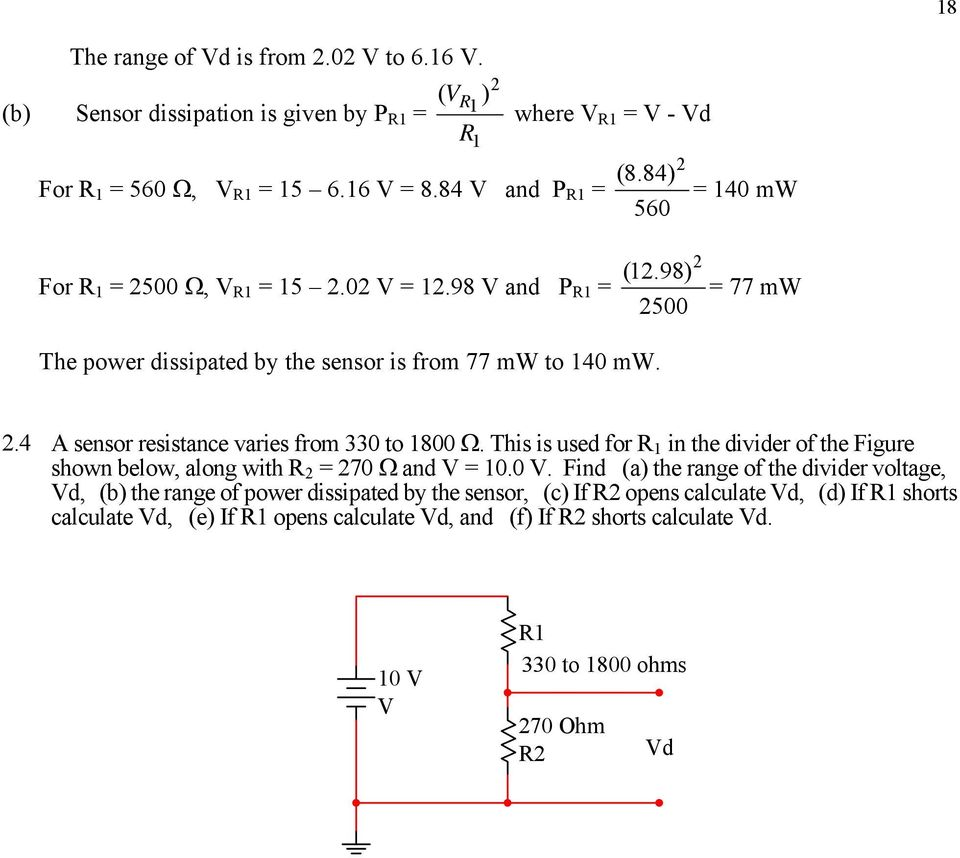 Dr Julio R Garca Villarreal San Jos State University Voltage Divider Used To Obtain Vin From The Vcc Or Power 4 A Sensor Resistance Varies 330 1800 This Is For