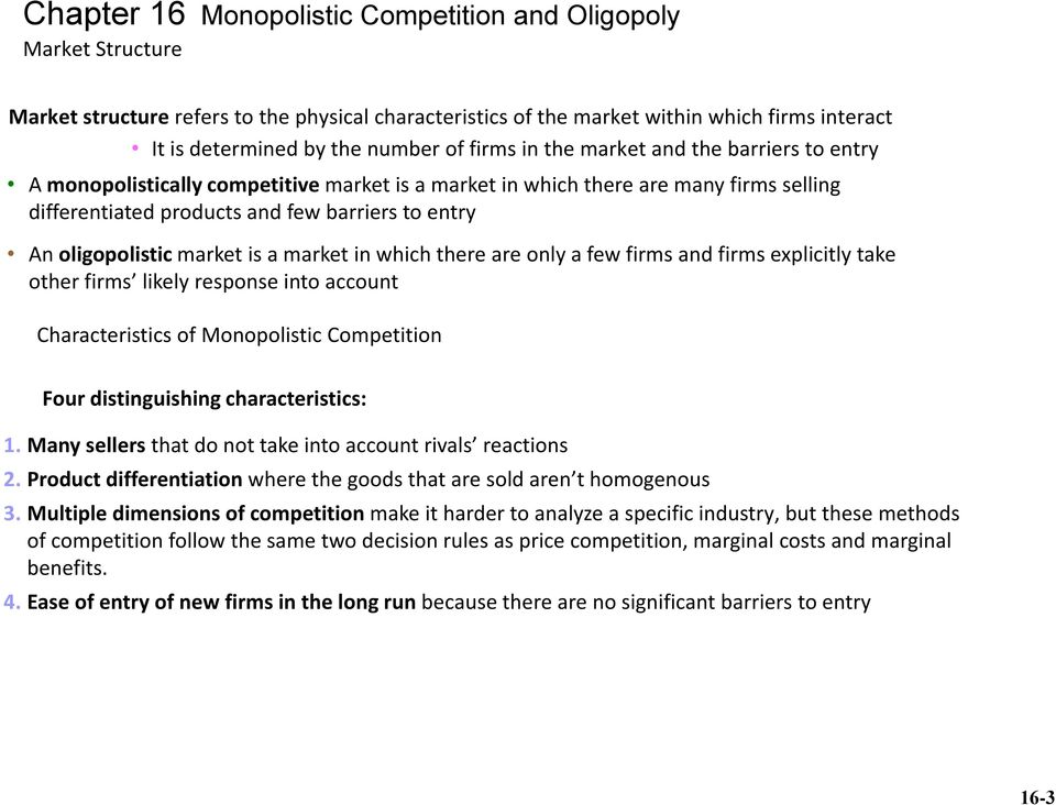what is oligopoly market structure
