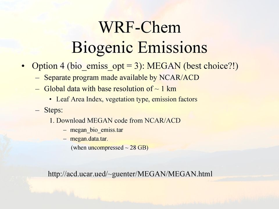 WRF-Chem: A Quick Review Of How To Set-Up & Run  Steven