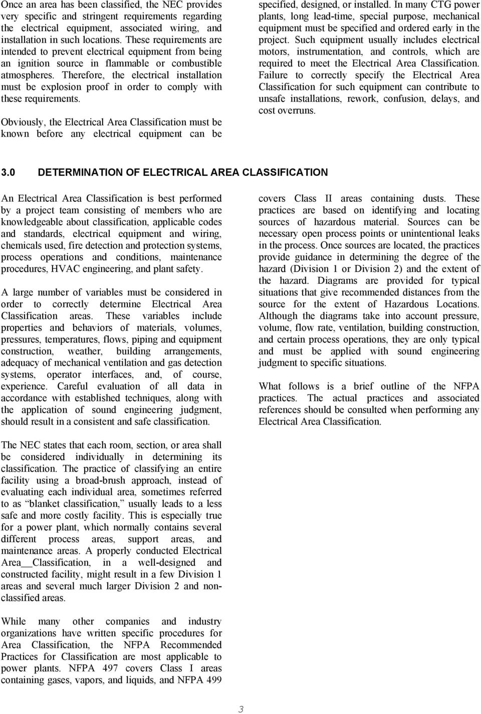 Practical Guidelines for Electrical Area Classification in ...
