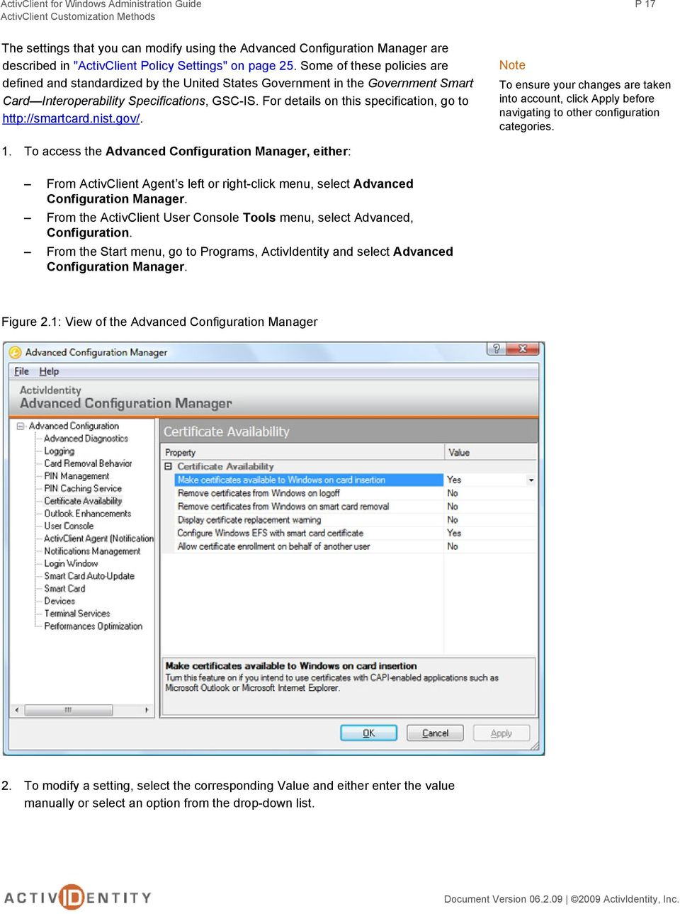 Activclient administration guide   group policy   system software.
