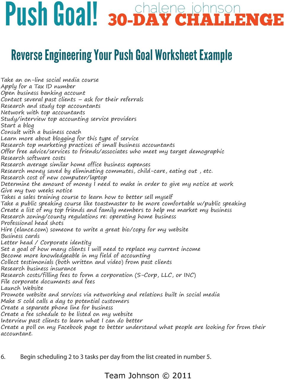 Push Goal! 30-DAY CHALLENGE. Reverse Engineering Your Push ...