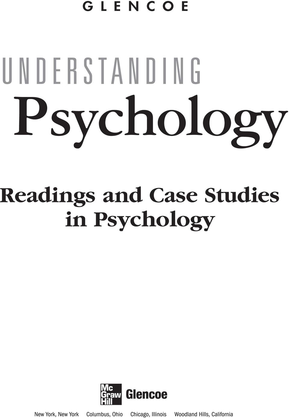 UNDERSTANDING  Psychology  Readings and Case Studies in Psychology - PDF