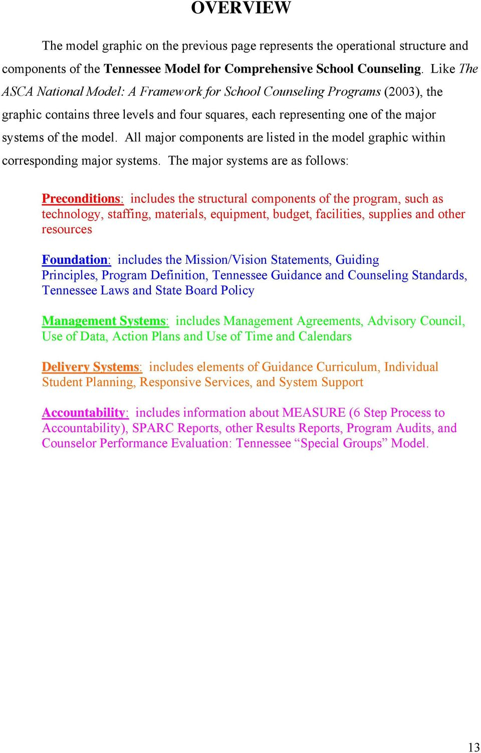Tennessee Model For Comprehensive School Counseling Pdf