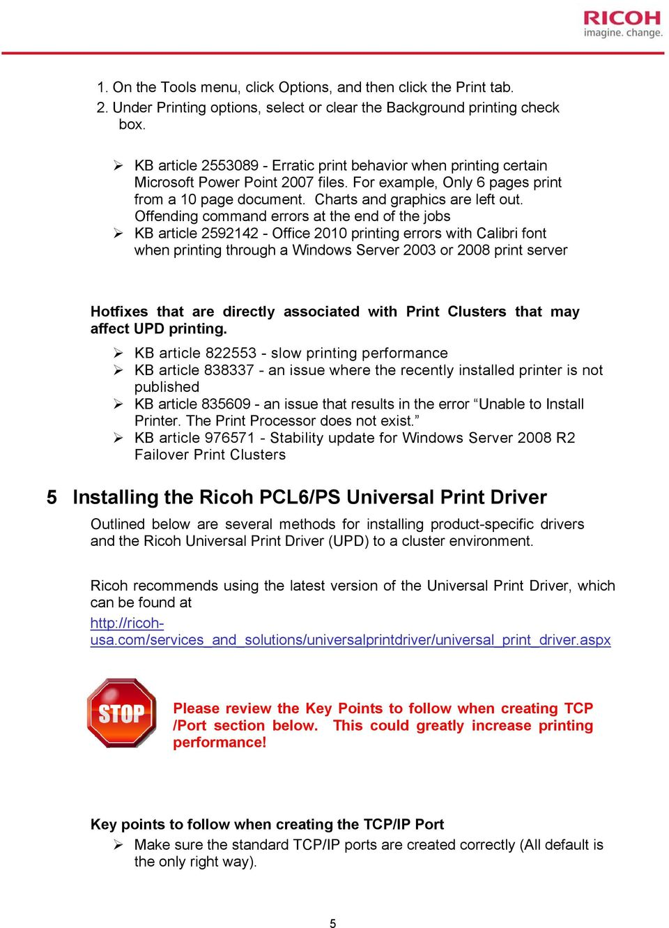 Best Practices Using Ricoh Universal Printer Drivers (UPD) In