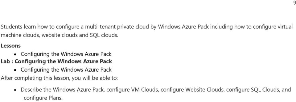 Configuring the Windows Azure Pack Lab : Configuring the Windows Azure Pack Configuring the Windows Azure Pack
