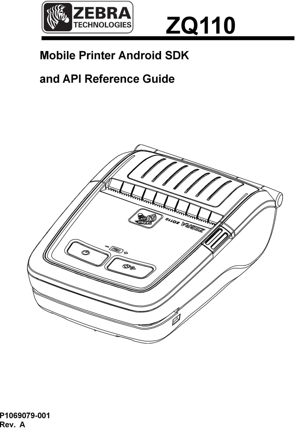 ZQ110  Mobile Printer Android SDK  and API Reference Guide  P Rev  A