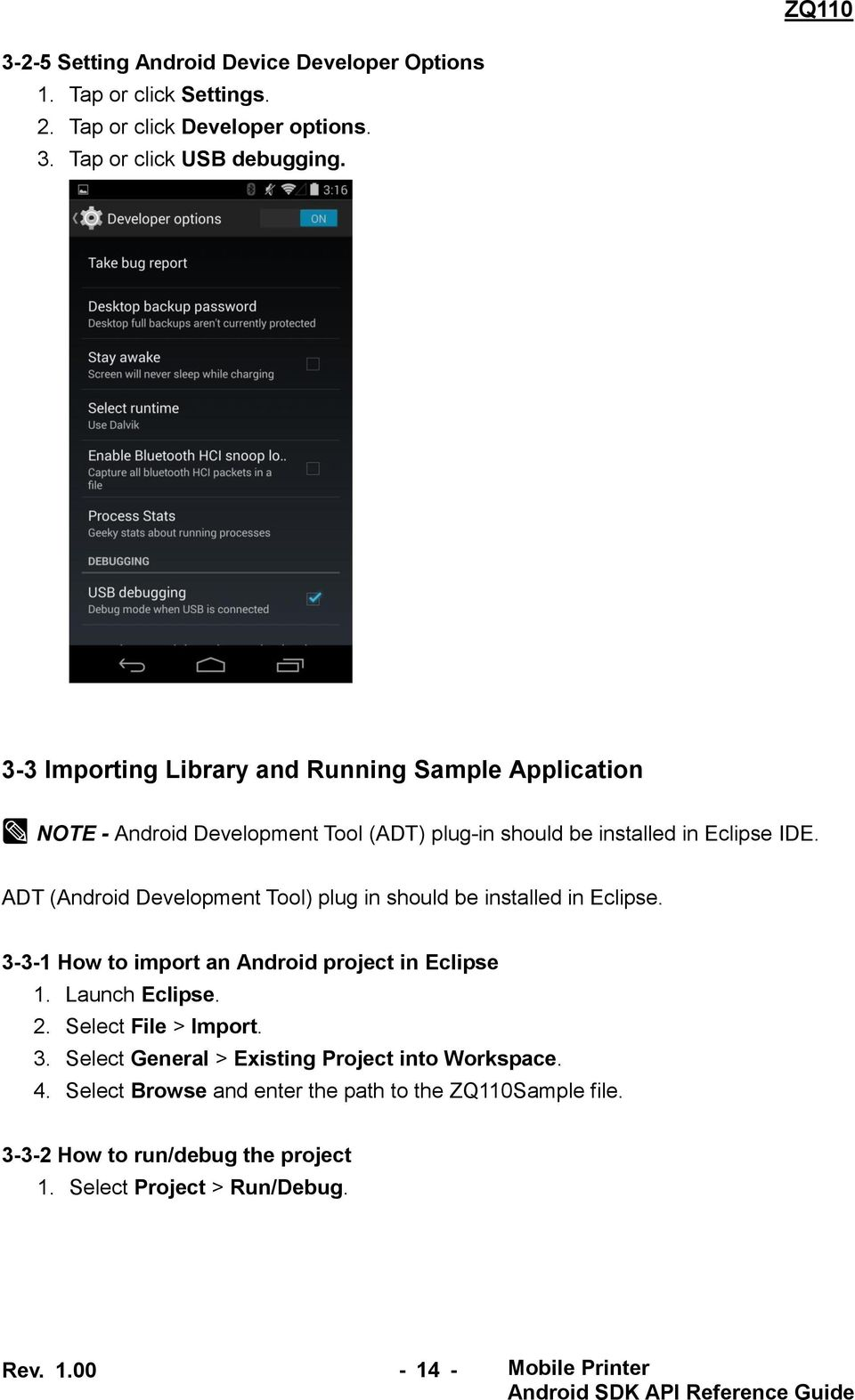 ZQ110  Mobile Printer Android SDK  and API Reference Guide