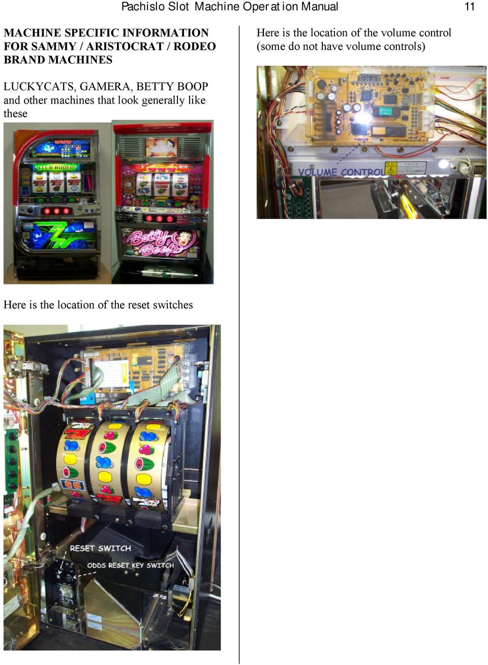 Wiring Diagram For Qlympia Slot Machine Free Download Reset Switch Pachislo Operation Manual 1 Step Opening The Main