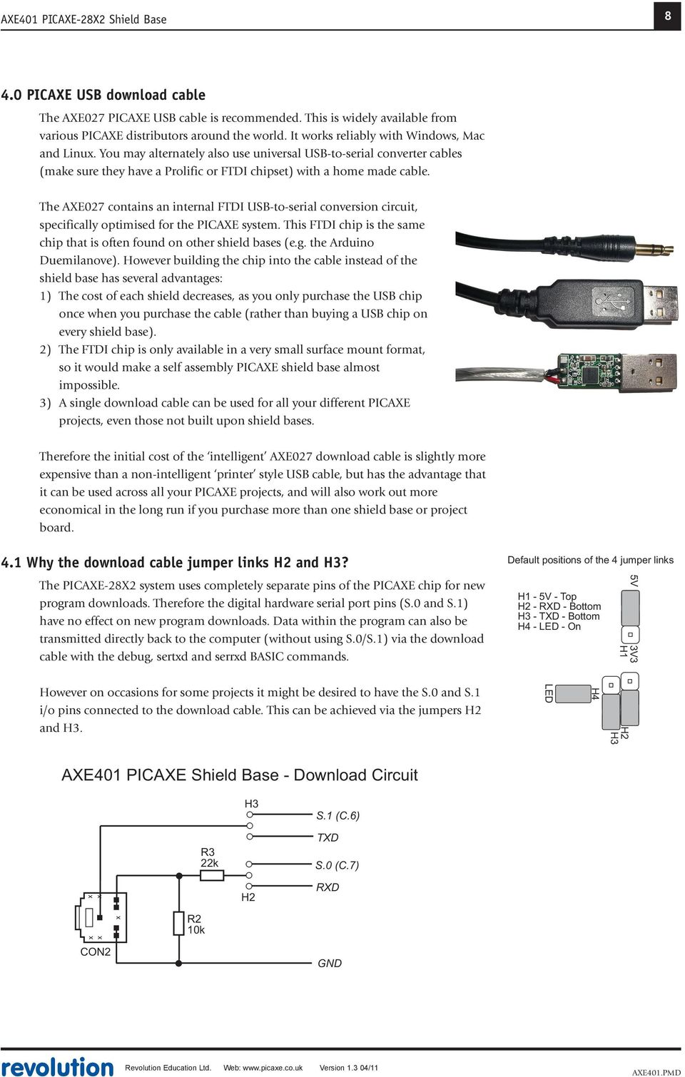 Picaxe 28x2 Shield Base Axe401 Pdf Programming Circuit A Higher Frequency Means Faster Operating Speed But The Power Use Of Microcontroller