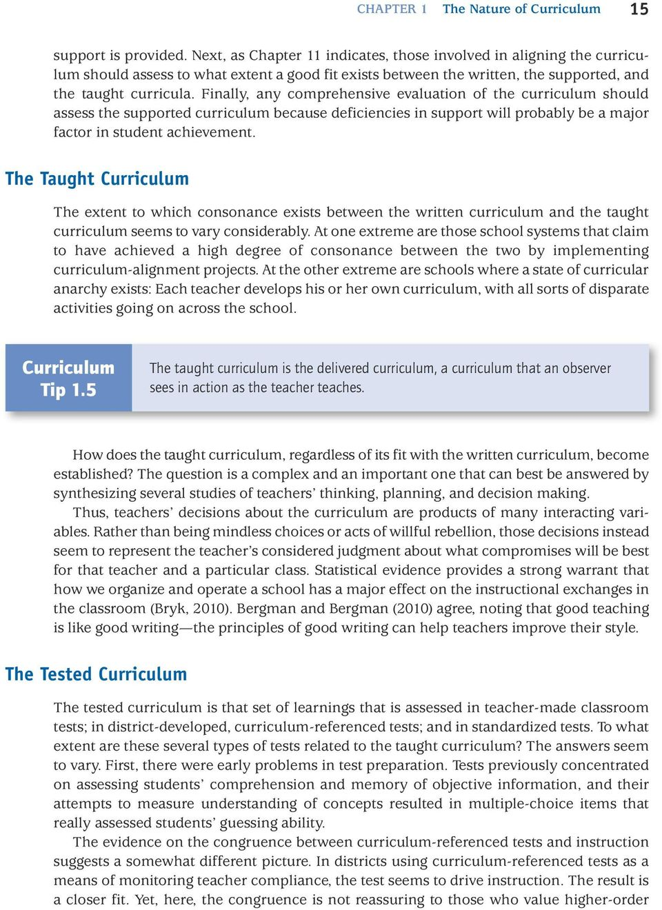 CHAPTER 1 The Nature of Curriculum - PDF