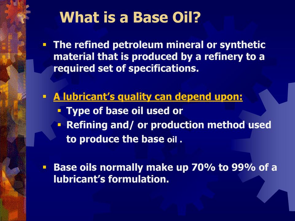 Automotive Base Oil Presentation - PDF
