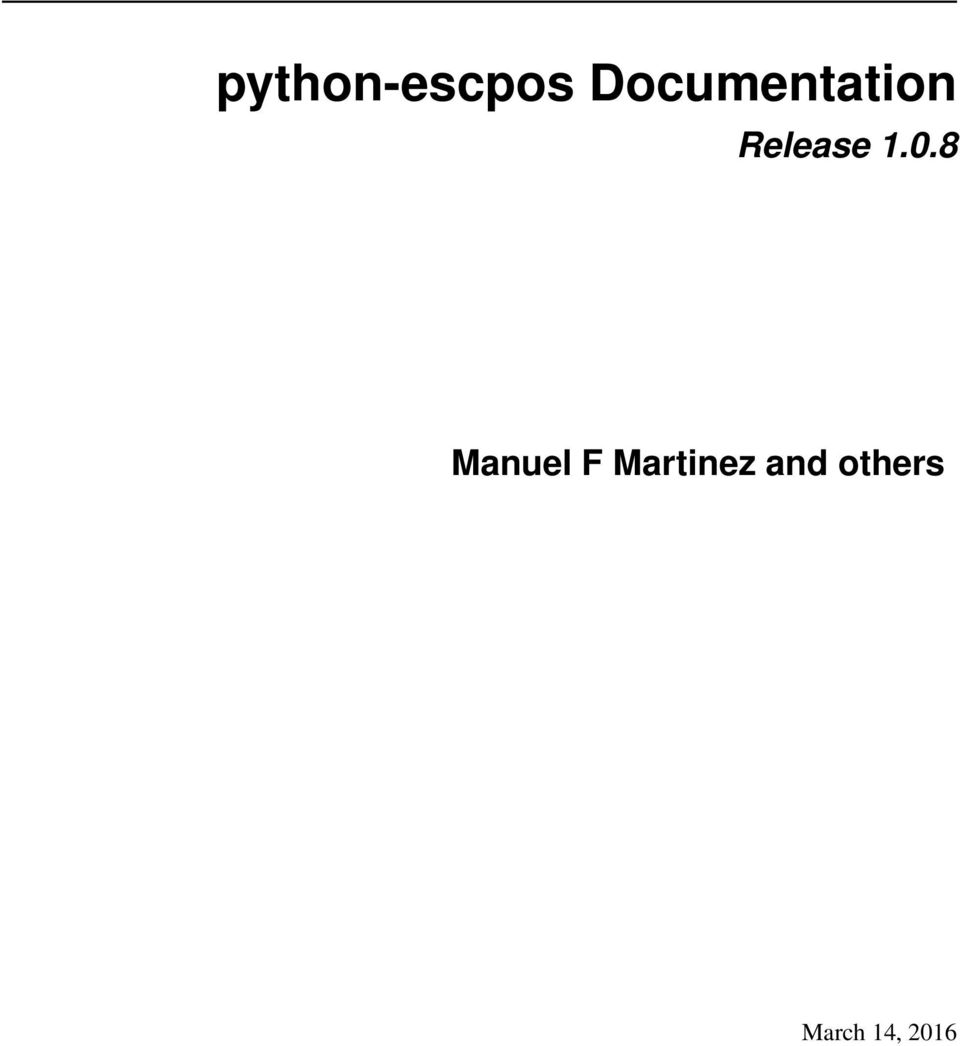 python-escpos Documentation - PDF