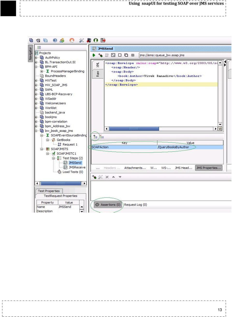 Sop U  SOAP over JMS with  Configuring soapui to test TIBCO SOAP