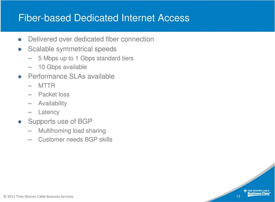 Time Warner Cable Business Class Product Overview  Matt