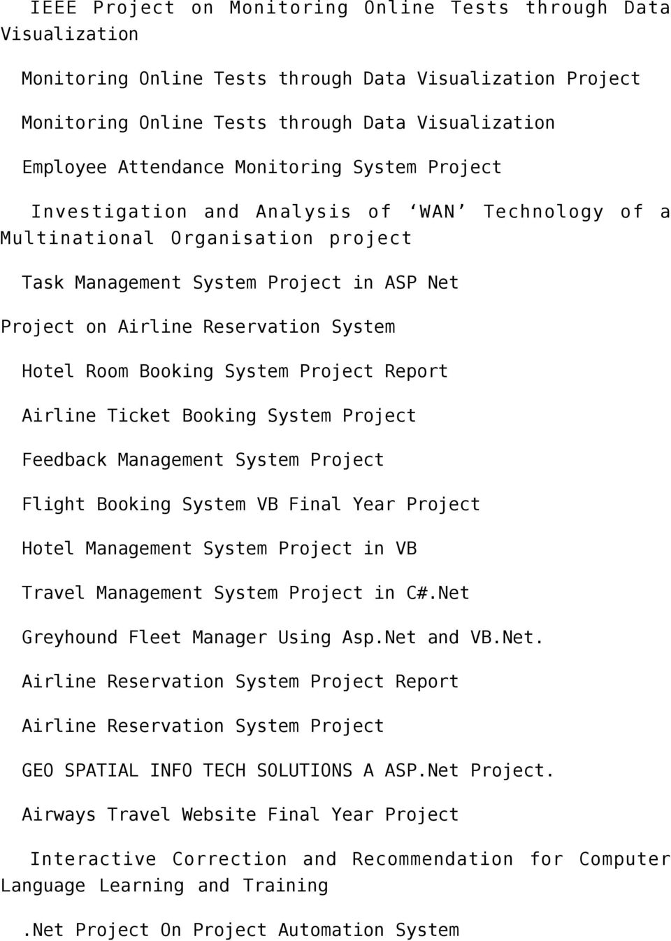 NET PROJECT TITLE-2012(FINAL PROJECTS 2030) - PDF