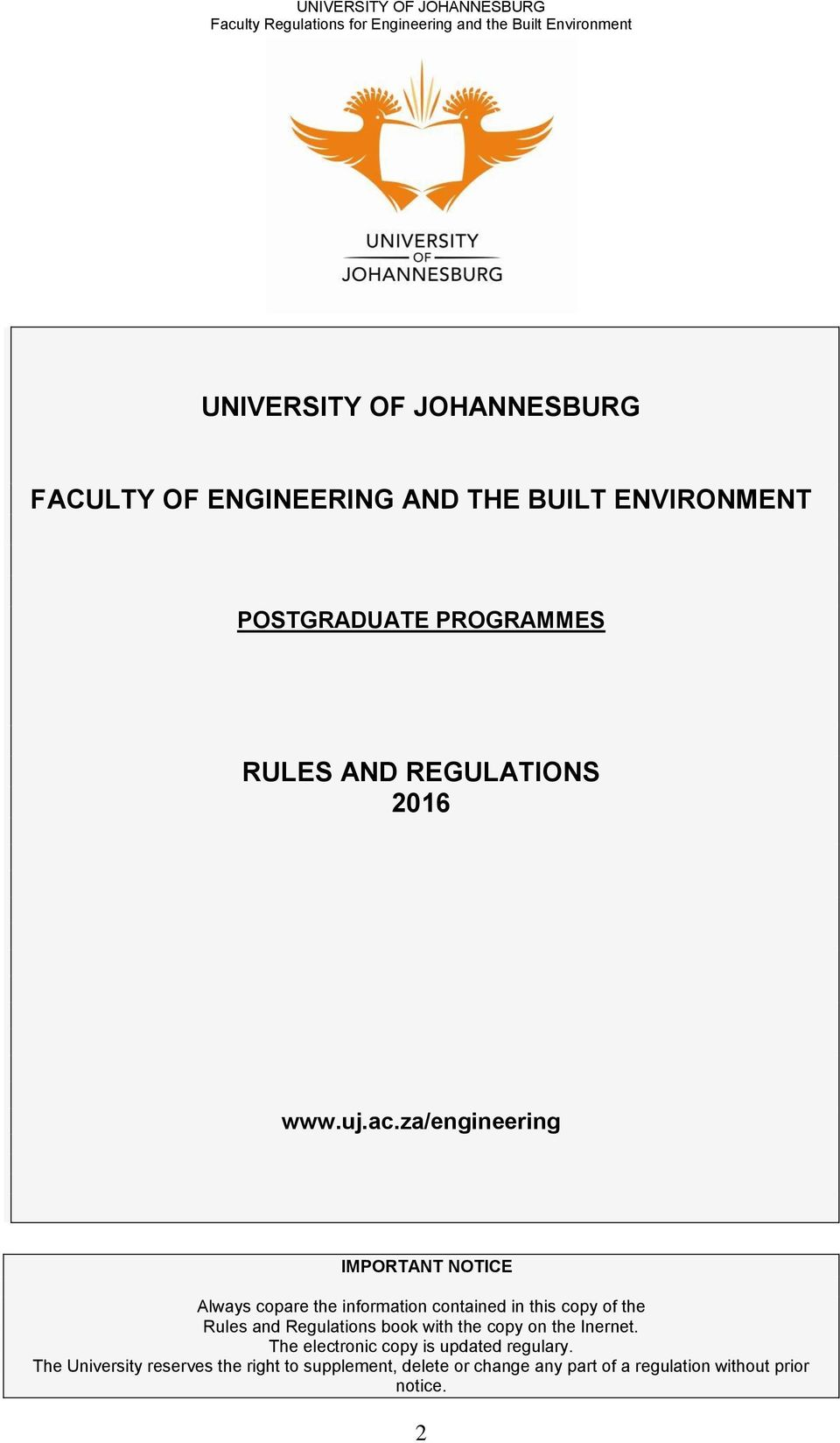 Uj 2014 tuition brochur ebook array university of johannesburg faculty of engineering and the built rh docplayer net fandeluxe Choice Image