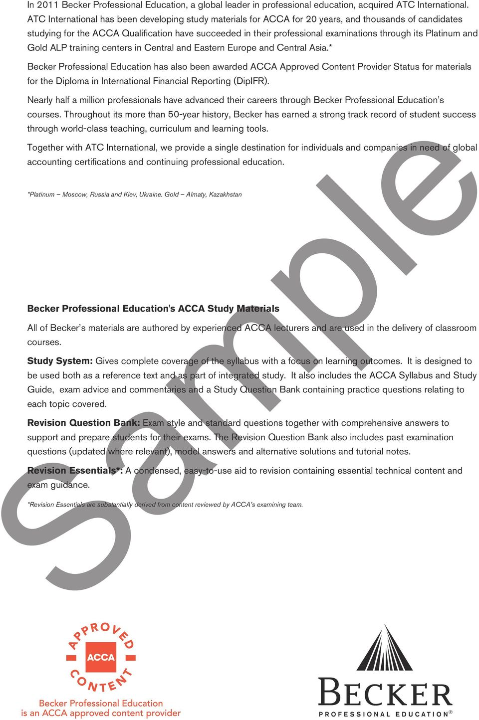 Sample ACCA STUDY QUESTION BANK Paper F9 FINANCIAL MANAGEMENT