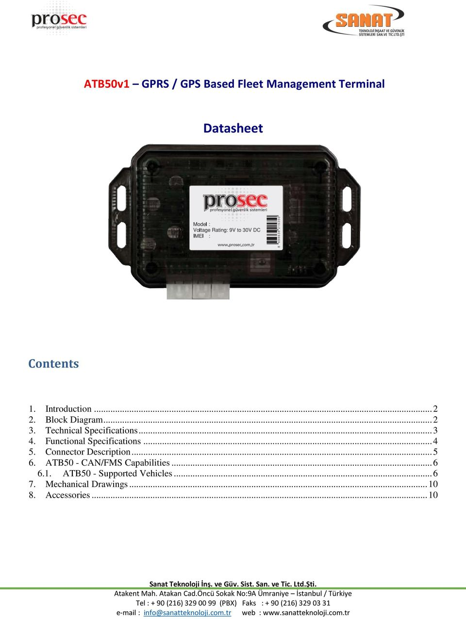 ATB50v1 GPRS / GPS Based Fleet Management Terminal