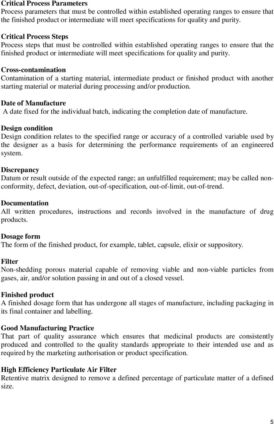 GOOD MANUFACTURING PRACTICE GUIDELINE FOR PHARMACEUTICAL PRODUCTS - PDF