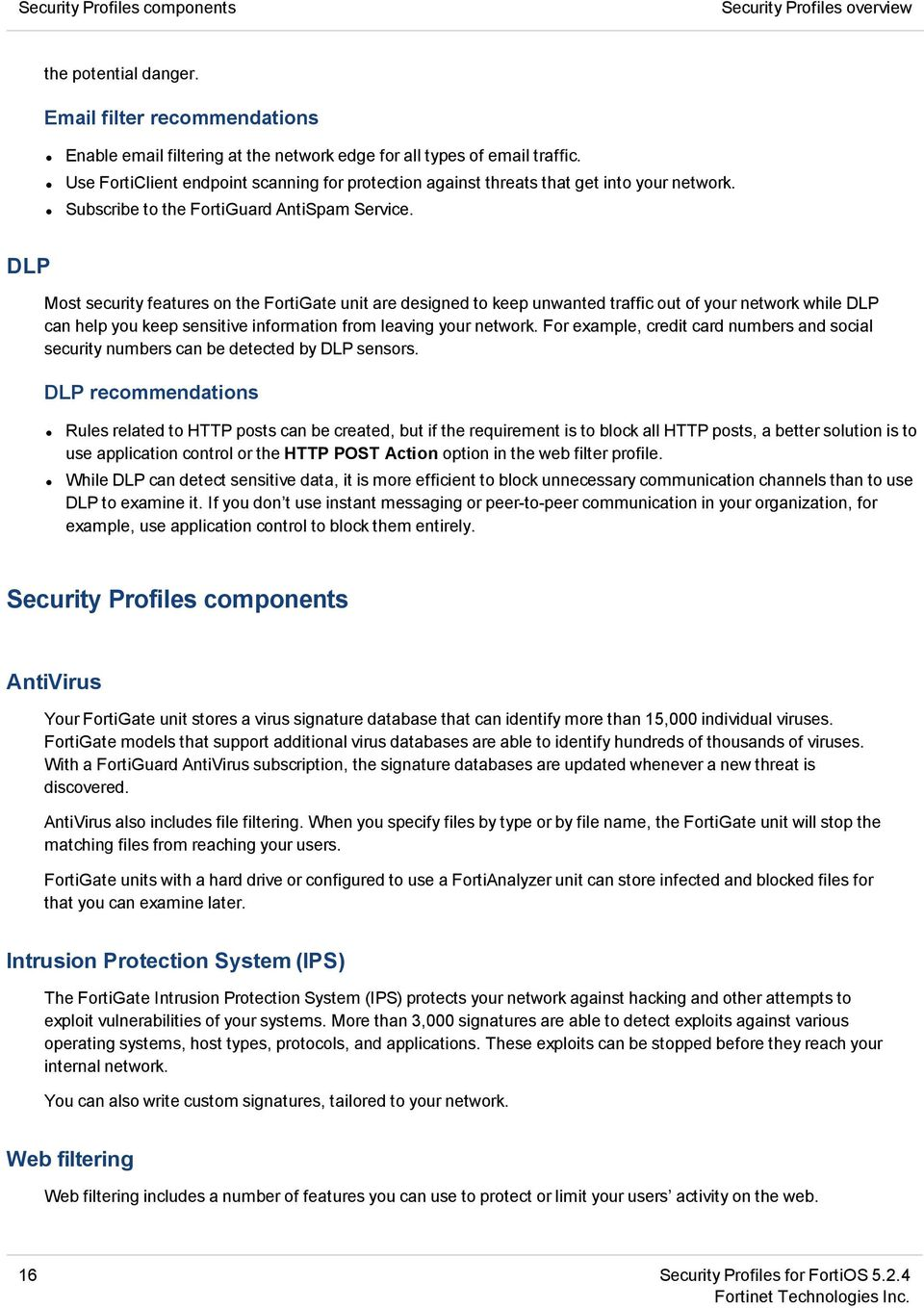 FortiOS Handbook - Security Profiles VERSION PDF