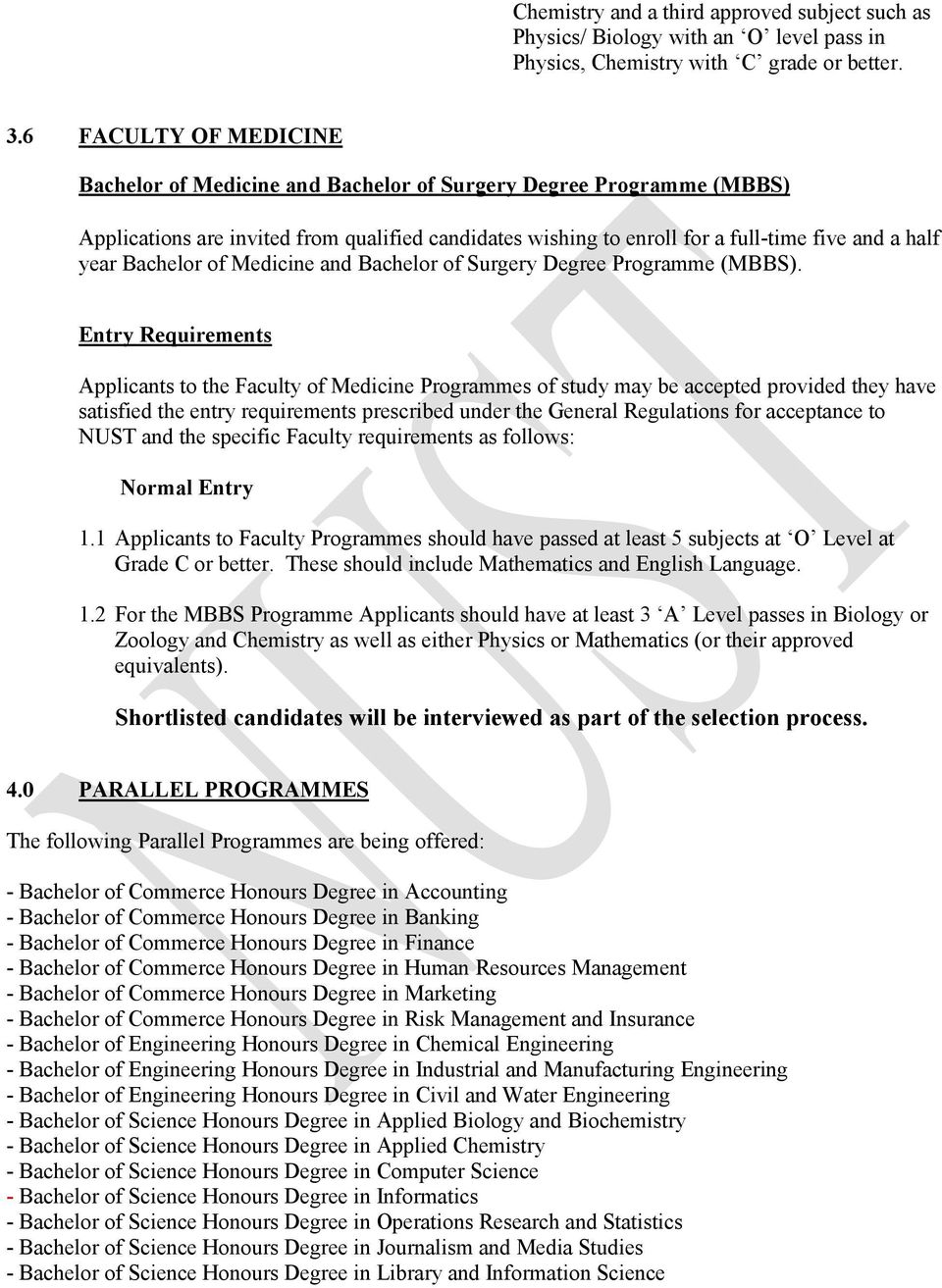 Nust mbbs fee structure