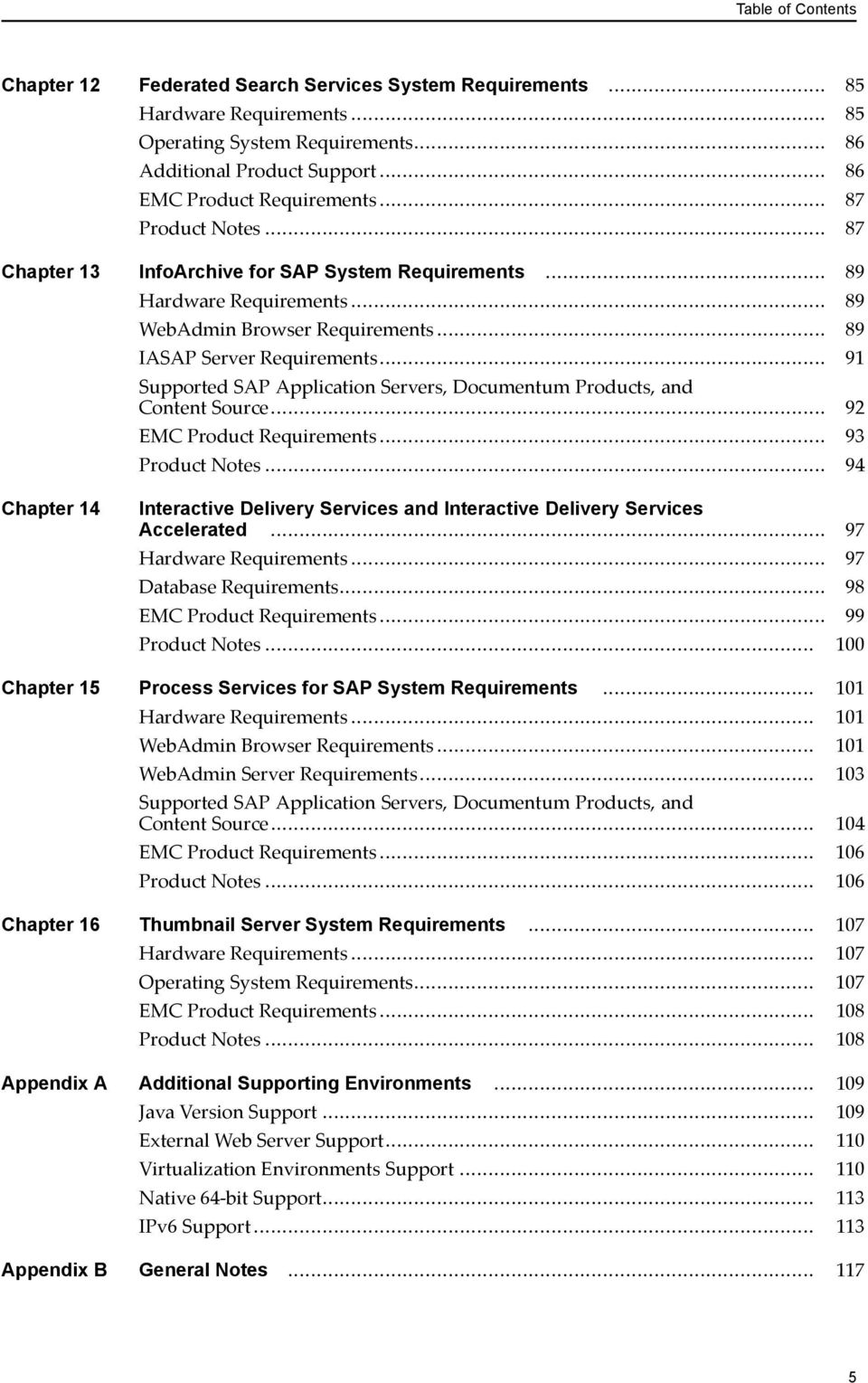 EMC Documentum. Environment and System Requirements Guide. Version PDF