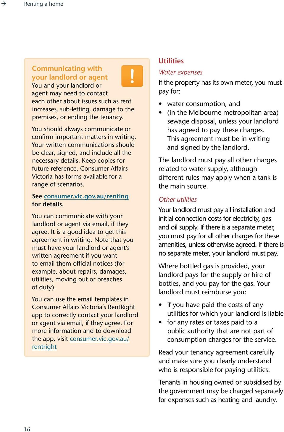 Renting a home  A guide for tenants  consumer vic gov au - PDF