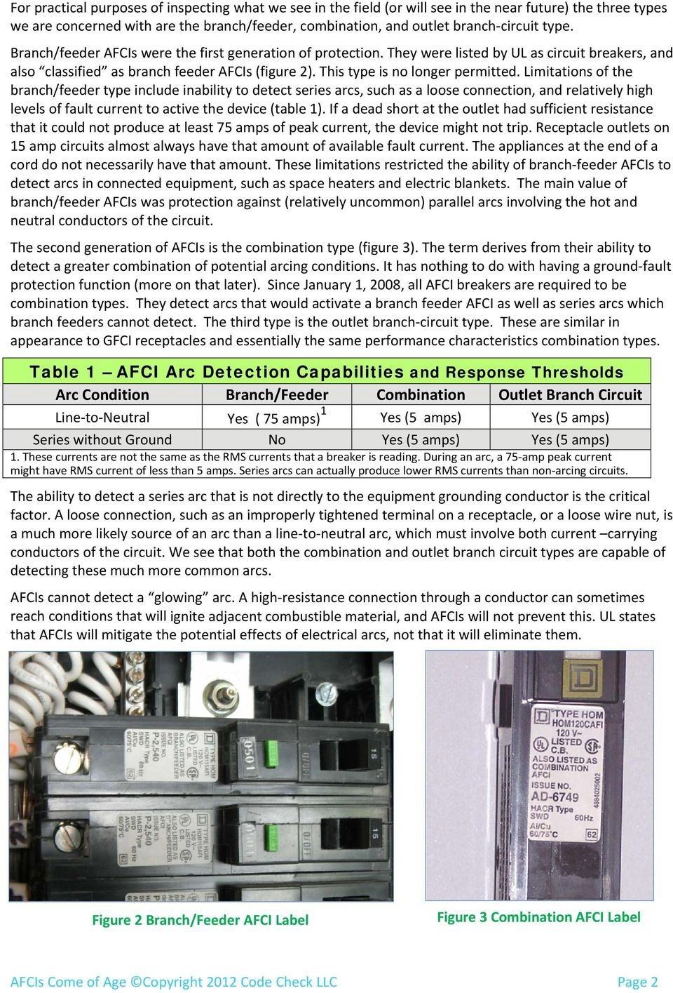 Afcis Come Of Age By Douglas Hansen Pdf Afci And Gfci Wiring Diagram Find A Guide With Limitations The Branch Feeder Type Include Inability To Detect Series Arcs Such As Outlet Circuit Types An