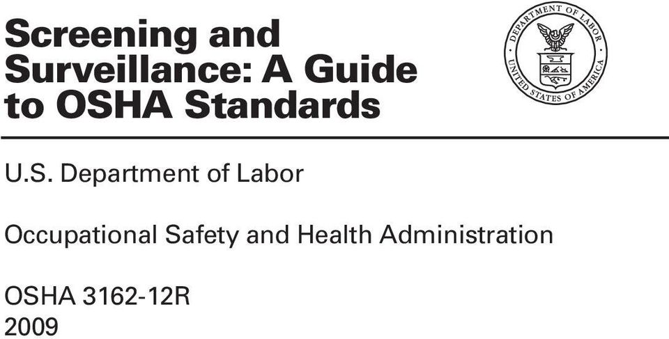 Screening and Surveillance: A Guide to OSHA Standards - PDF