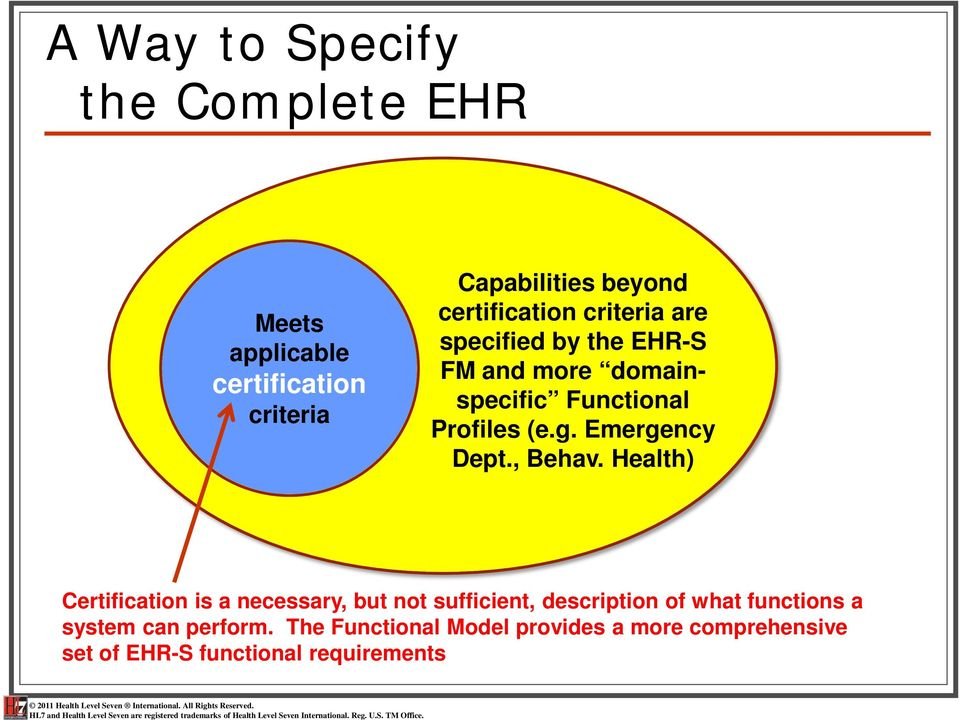 HL7 EHR System Functional Model and Standard (ISO/HL ), Release 2 - PDF