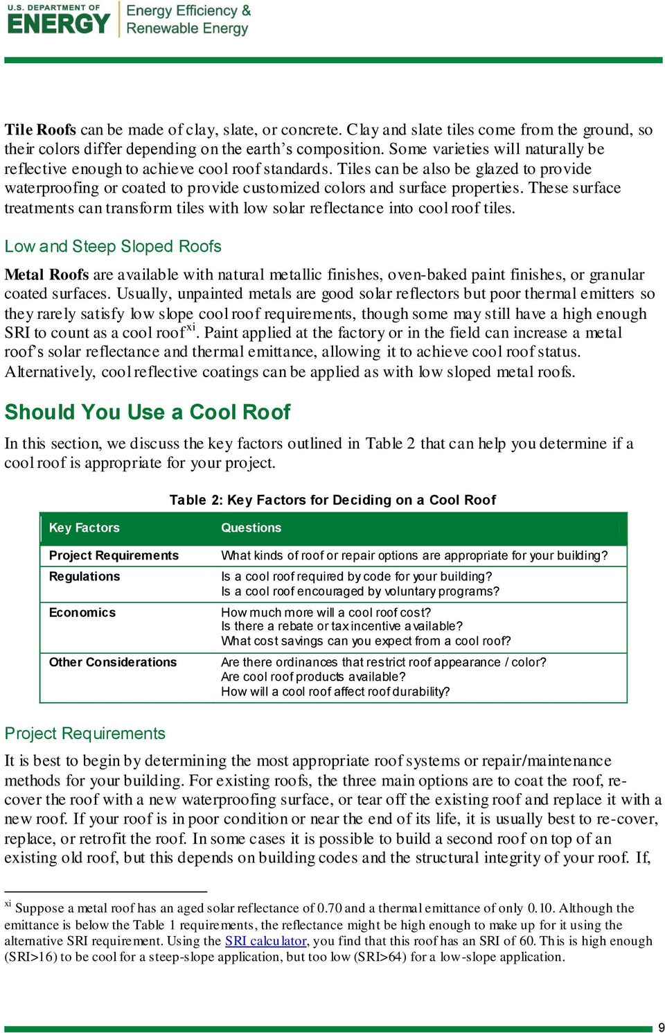 Guidelines for Selecting Cool Roofs - PDF