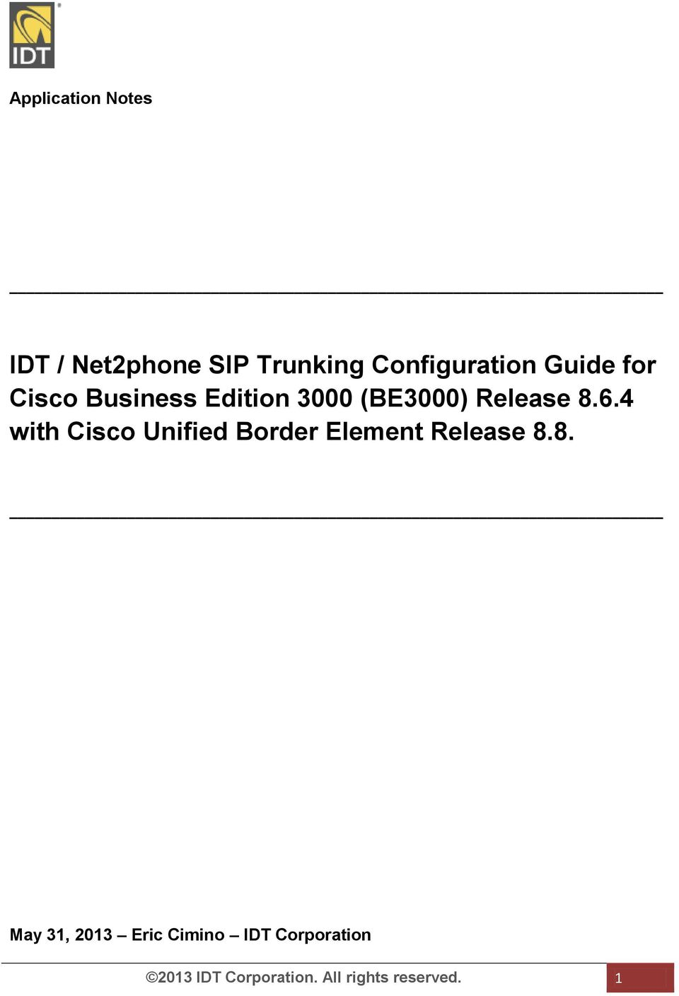 4 with Cisco Unified Border Element Release 8.