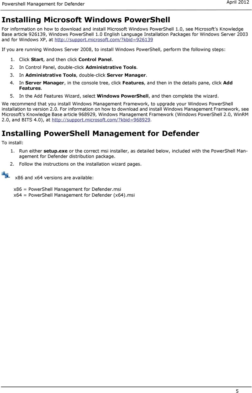 Powershell Management for Defender - PDF