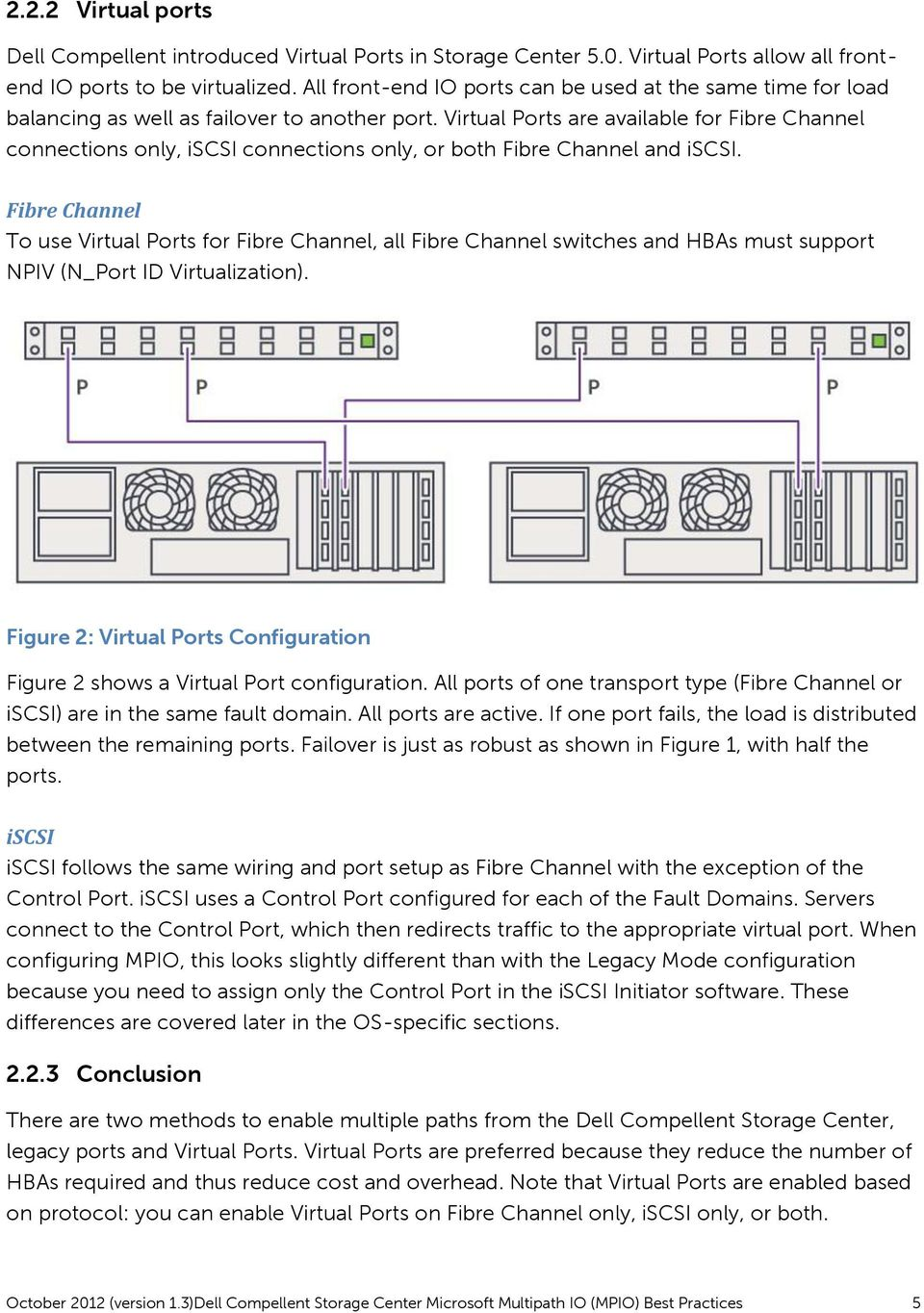 Virtual Ports are available for Fibre Channel connections only, iscsi connections only, or both Fibre Channel and iscsi.