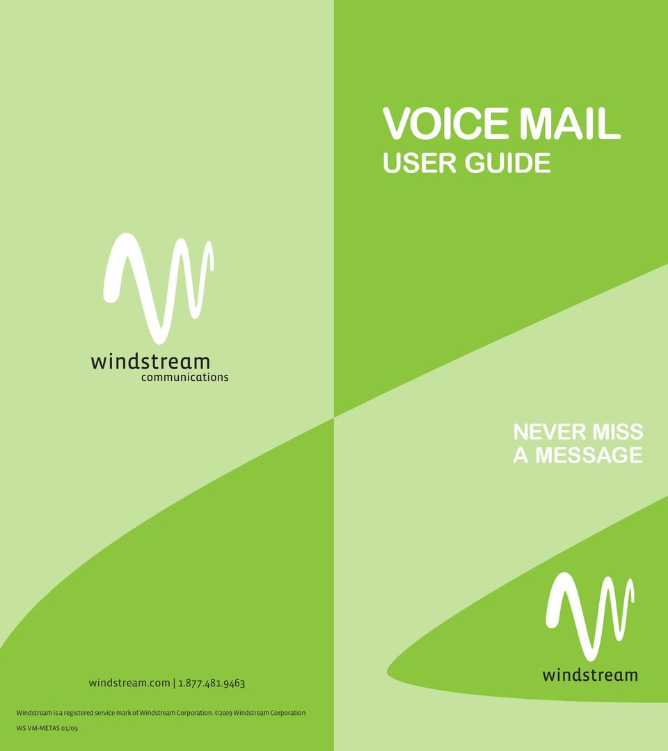 Voice Mail User Guide Never Miss A Message Windstream Pdf