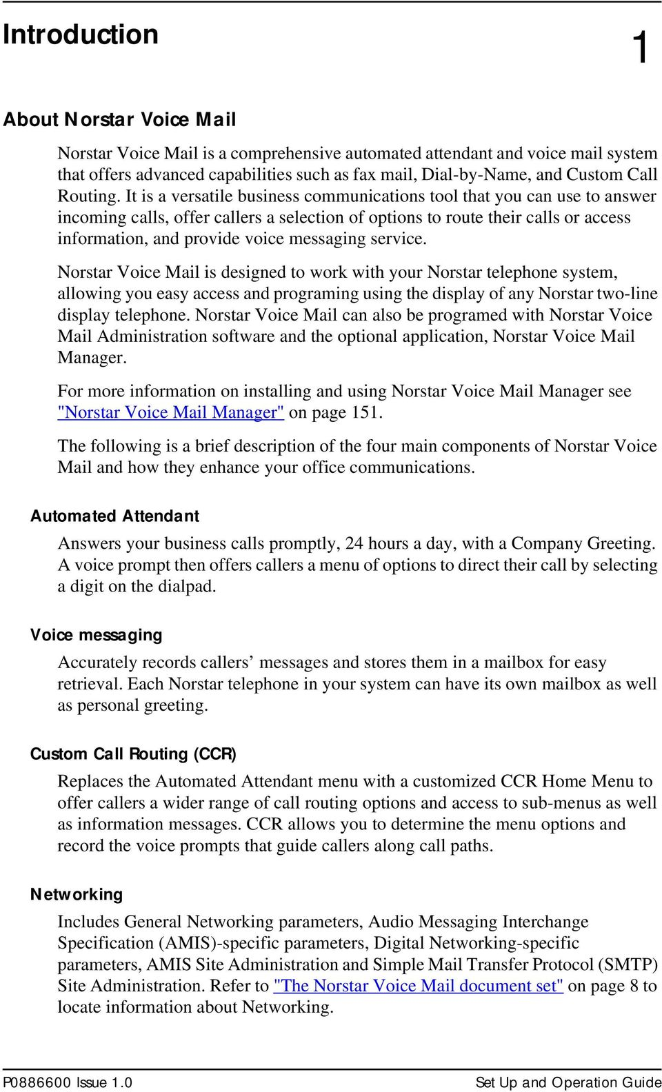Norstar Voice Mail 4 0 Set Up and Operation Guide - PDF
