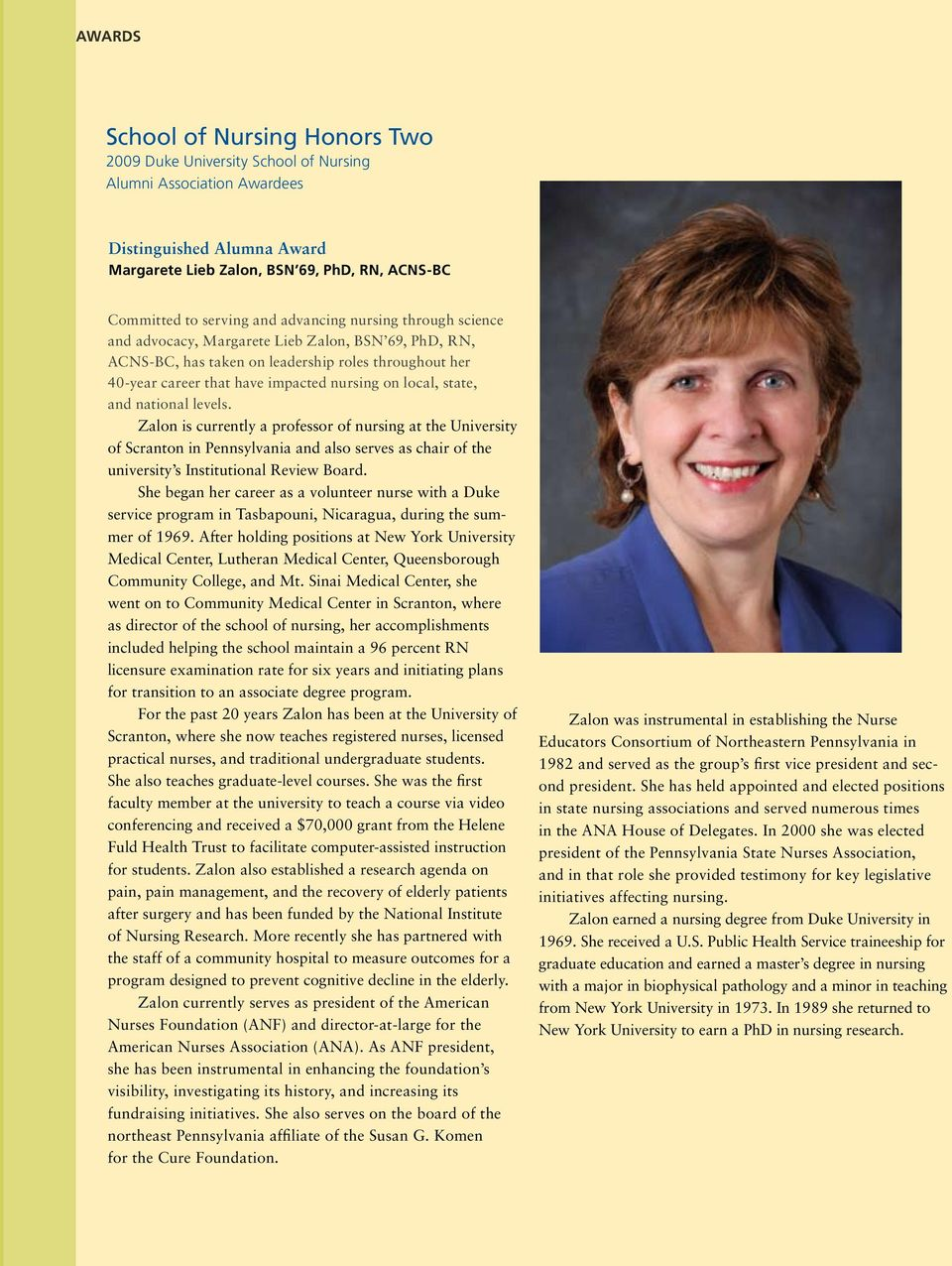 Duke Nursing  magazine  Translating Research into Better