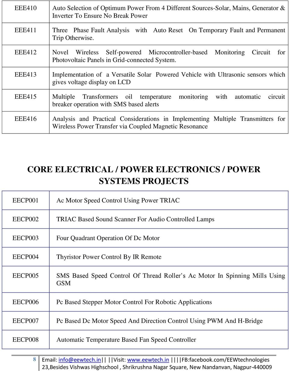 Electrical Project List Latest Projects Pdf Mini Over Under Voltage Protection Of Appliances Eee413 Implementation A Versatile Solar Powered Vehicle With Ultrasonic Sensors Which Gives Display On