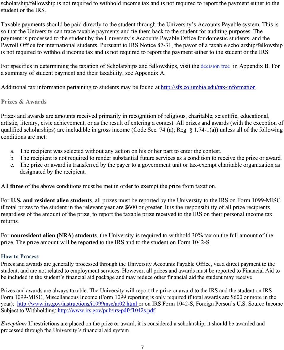 Payments To Students And Their Taxability Pdf
