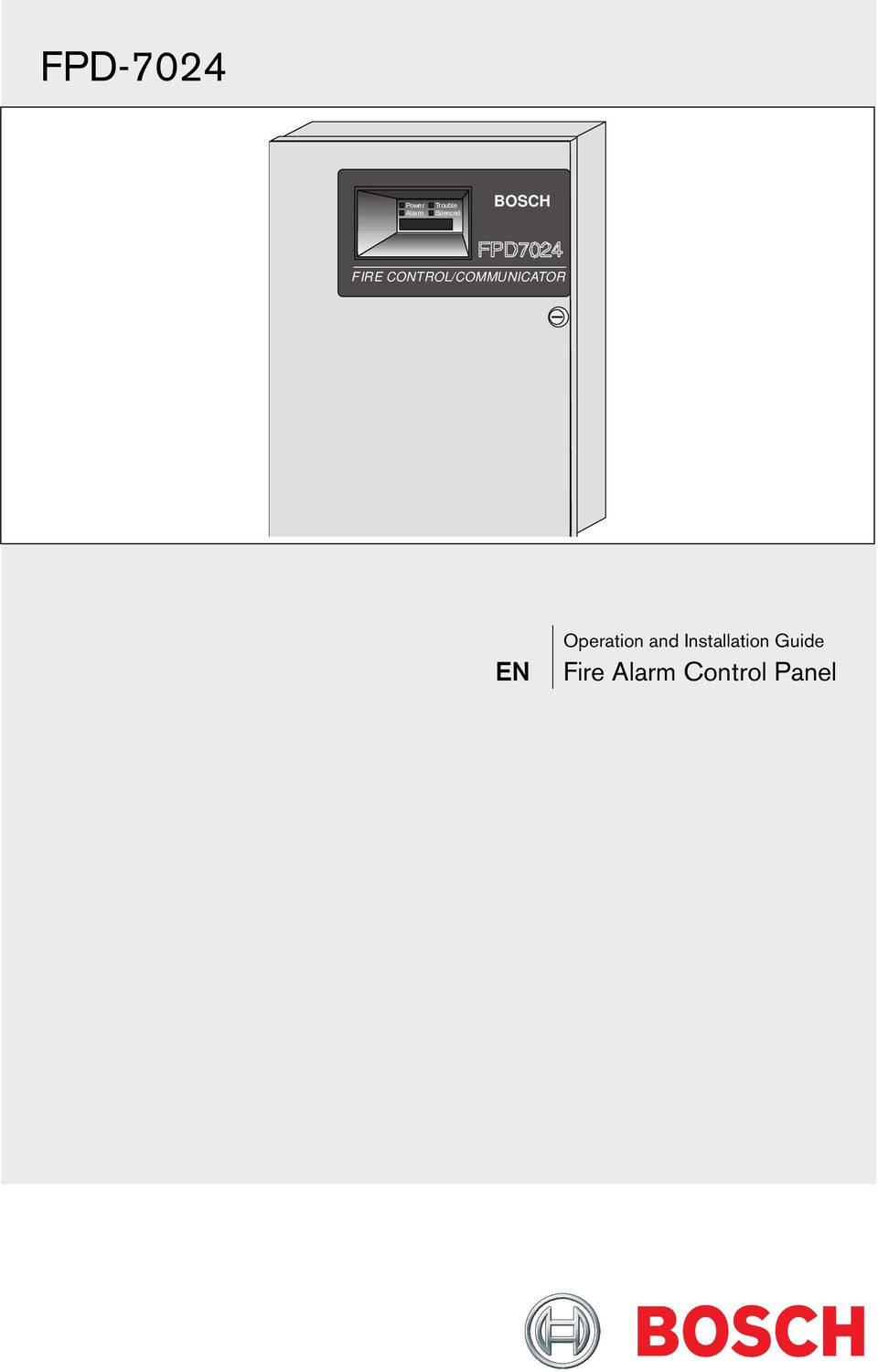 Fpd fire alarm control panel. Operation and installation guide.