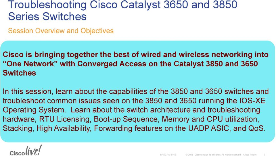 Troubleshooting Cisco Catalyst 3650 and 3850 Series Switches