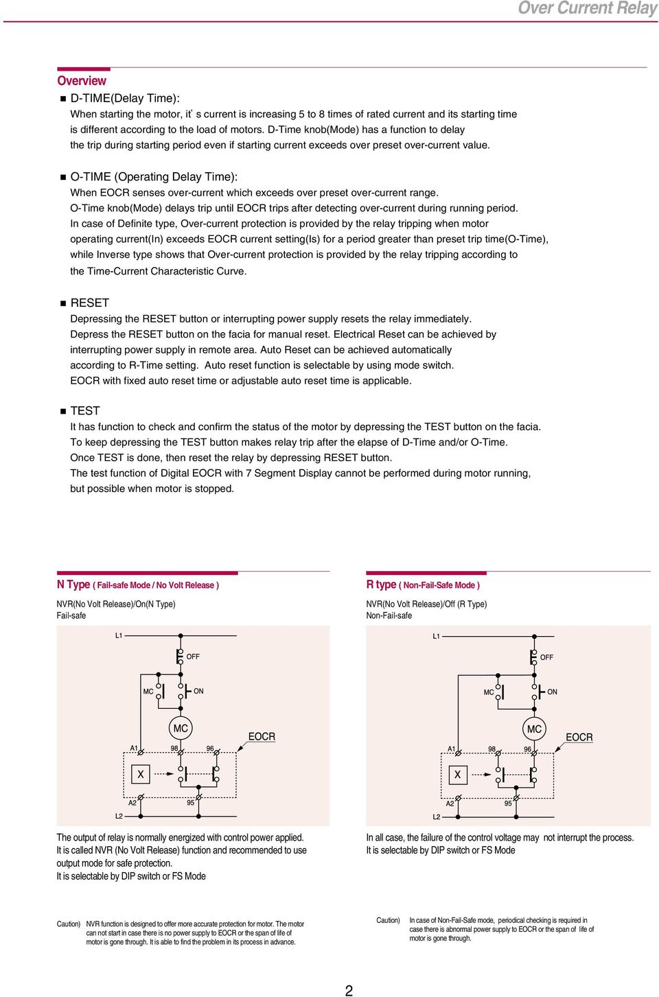 Electronic Over Current Relays - PDF