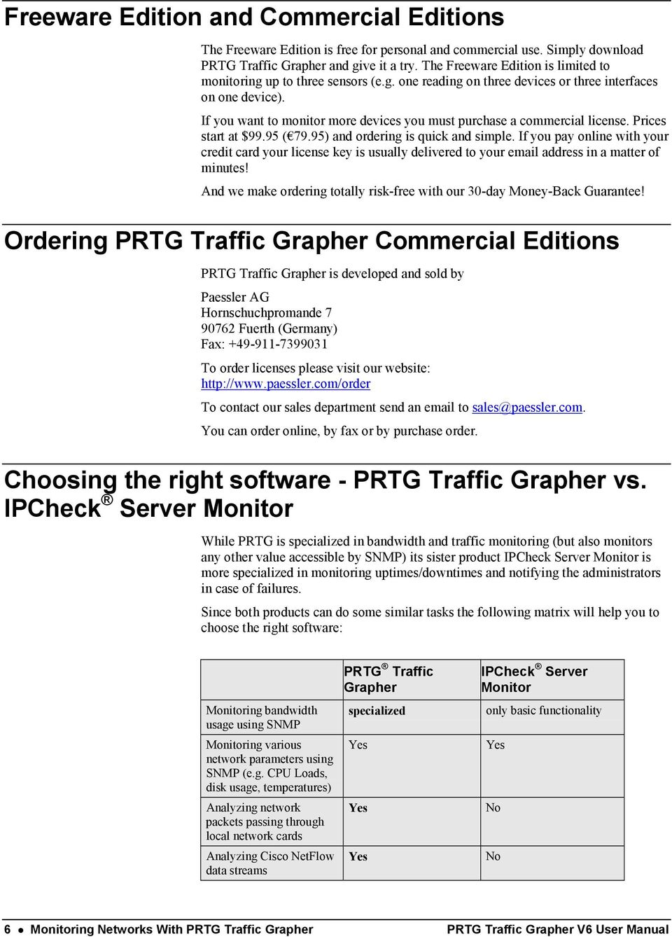 PRTG Traffic Grapher 6  User Manual - PDF