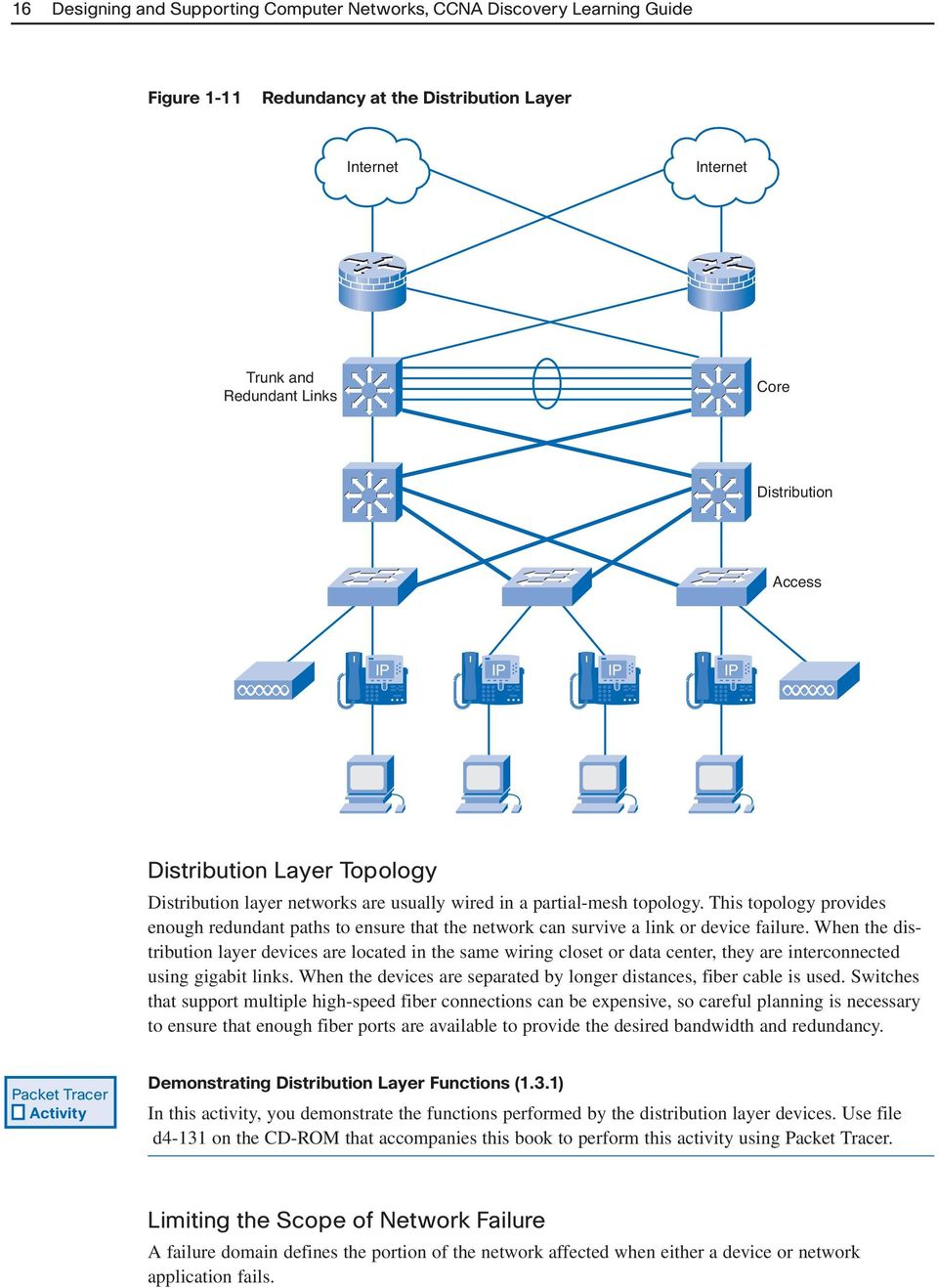 Introducing Network Design Concepts Pdf Wiring Closet Diagram This Topology Provides Enough Redundant Paths To Ensure That The Can Survive A Link Or