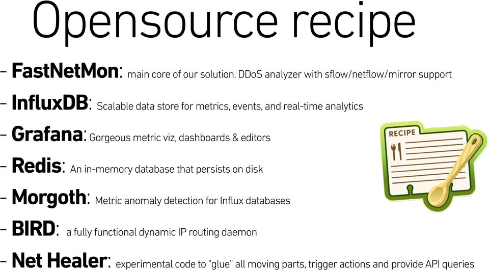 DDoS Attacks  An open-source recipe to improve fast
